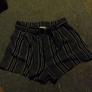 Supre Black And White Shorts
