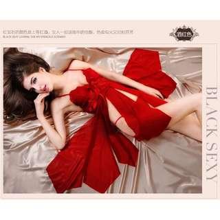 外貿歐美情趣內衣性感開叉八片女式情趣睡衣