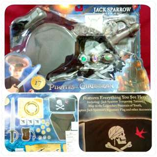 AUTHENTIC DISNEY Jack Sparrow (Pirates Of The Caribbean) Role Play Set