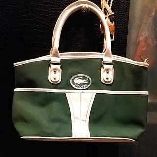Lacoste Bag Green White
