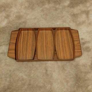 70年代 Robex木紋膠tray