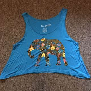 TRES BREN Elphant Cropped Top