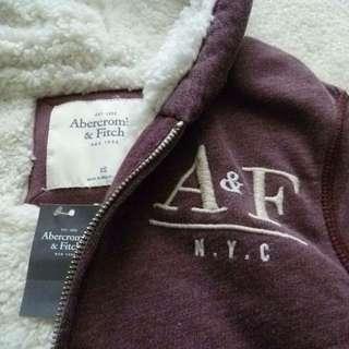 A&F 羊羔毛連帽外套 L號