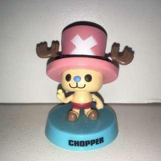Authentic Japan Anime One Piece Figure Collection, Panson Work Product With Shaking Head, Chopper. - MAR003