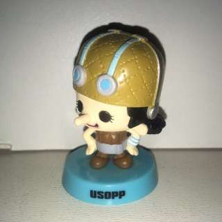 Authentic Japan Anime One Piece Figure Collection, Panson Work Product With Shaking Head, Usoppu. - MAR005