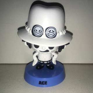 Authentic Japan Anime One Piece Figure Collection, Panson Work With Shaking Head, Ace. - MAR006