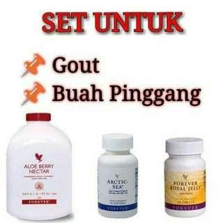 Forever Set Gout Dan Buah Pinggang