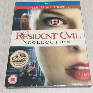 Resident Evil Blu ray 4 disc collection