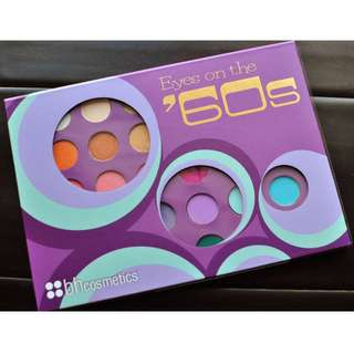 BH COSMETICS EYES ON THE '60S PALETTE Brand New & Authentic