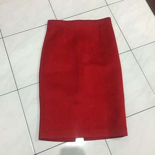 The Executive Red Pencil Skirt