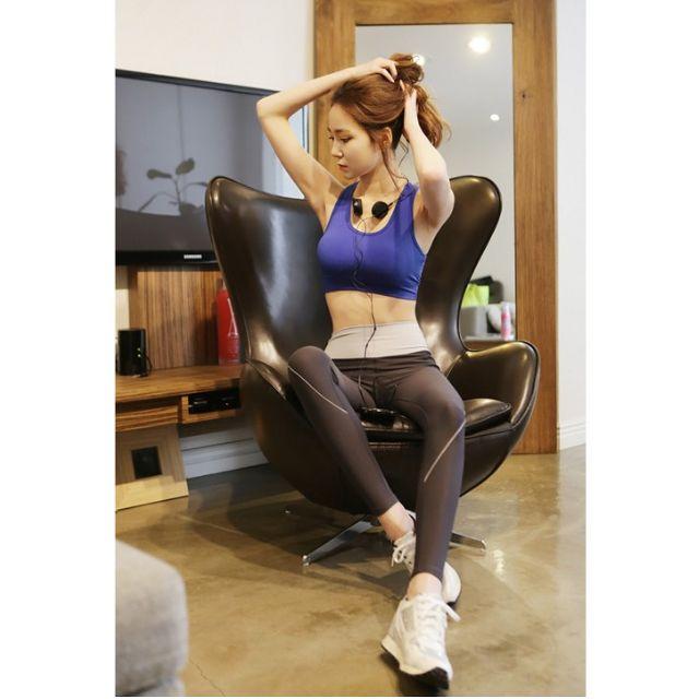 正韓運動內衣/背心寶藍色