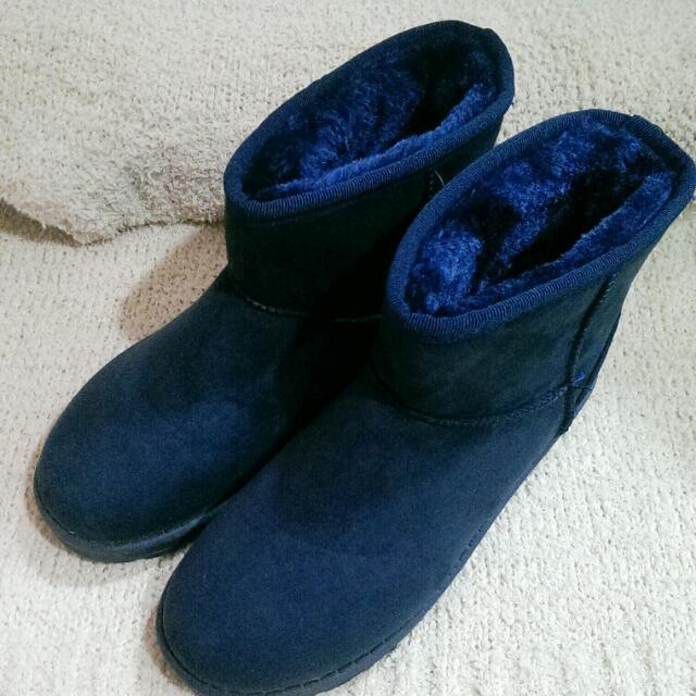 全新深藍雪靴