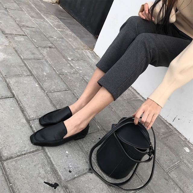 軟皮革好走平底鞋