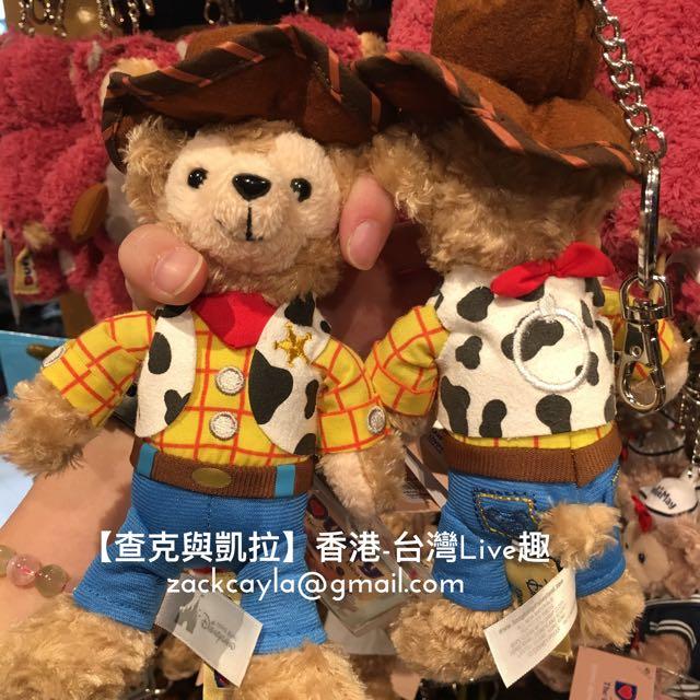 【查克與凱拉】香港迪士尼 偽胡迪 達菲