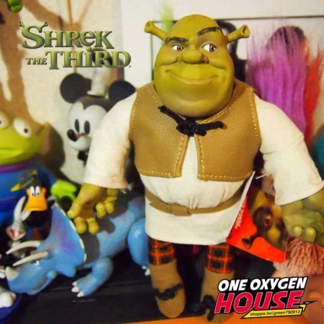迪士尼 超逼真 史瑞克 玩偶 公仔 娃娃 矽膠 皮衣 擺件 玩具 超大22公分