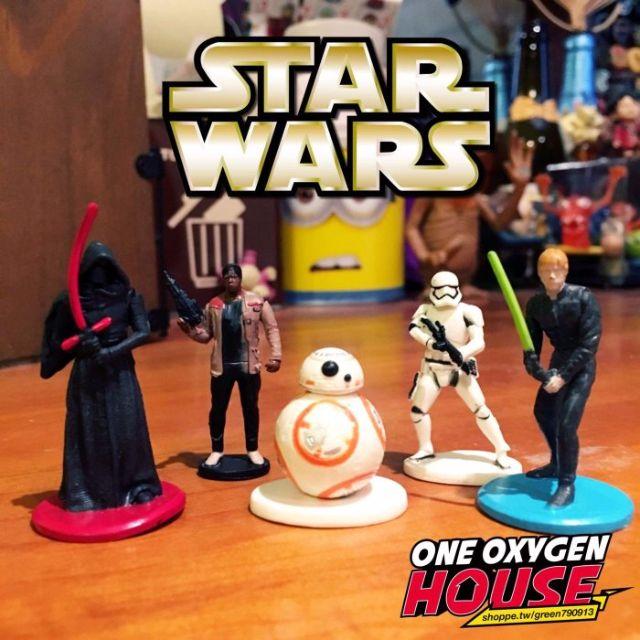 絕版 星際大戰 STAR WARS 黑武士 光劍 公仔 BB-8 玩具 擺飾 場景 擺件 白兵 尤達 5隻一組