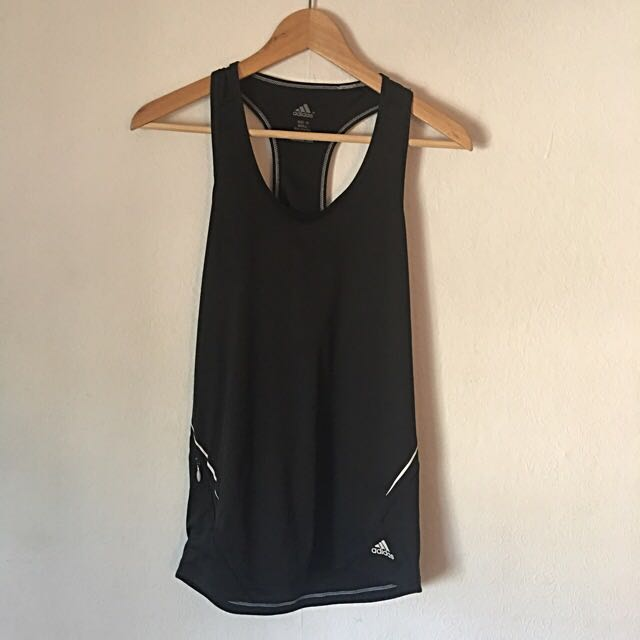Adidas Black Womens Size 10 Top Racer Back