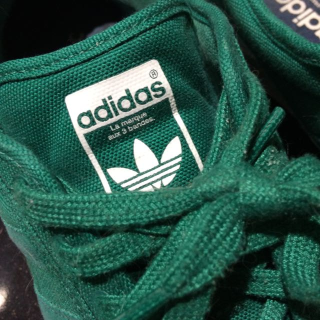 Adidas Green Shell Ties Size 13