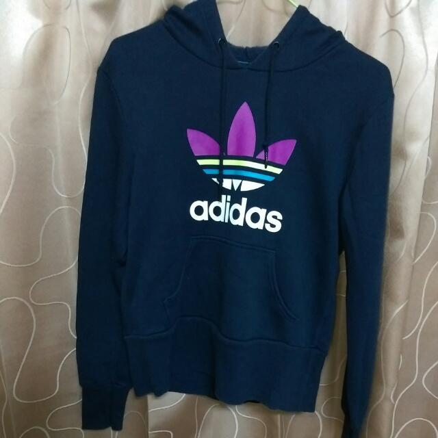 Adidas深藍帽T