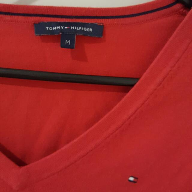 Authentic Tommy Hilfiger Red Sweater Top.