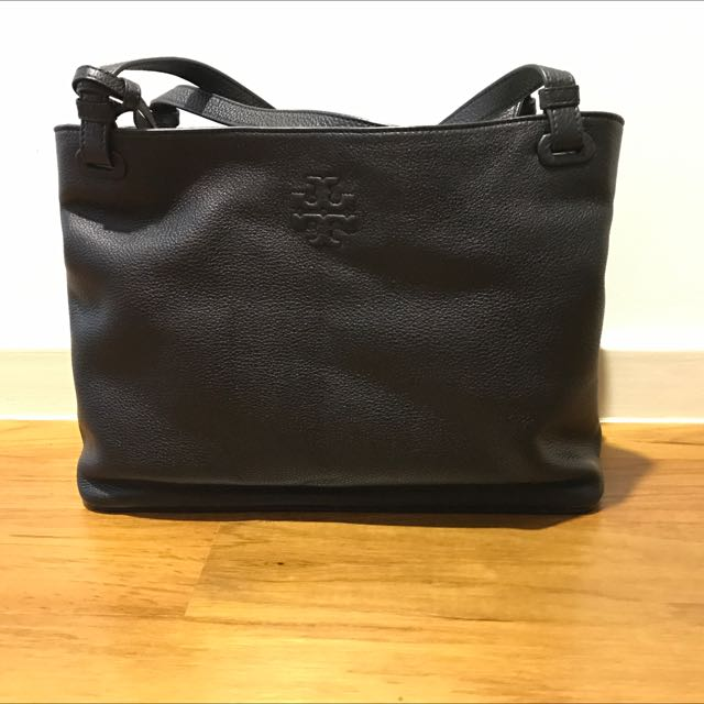 b3afd7762729 Tory Burch Thea Center Zip Tote - Black