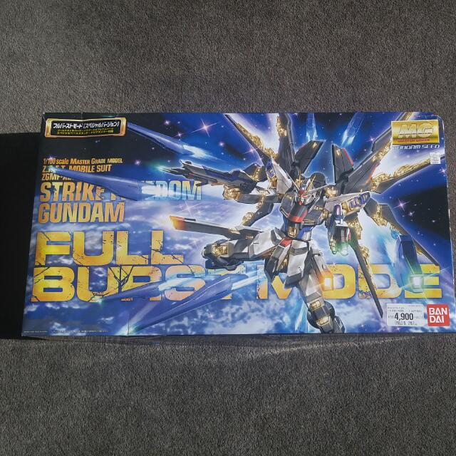 Bandai MG 1/100 Strike Freedom Gundam Burst Mode