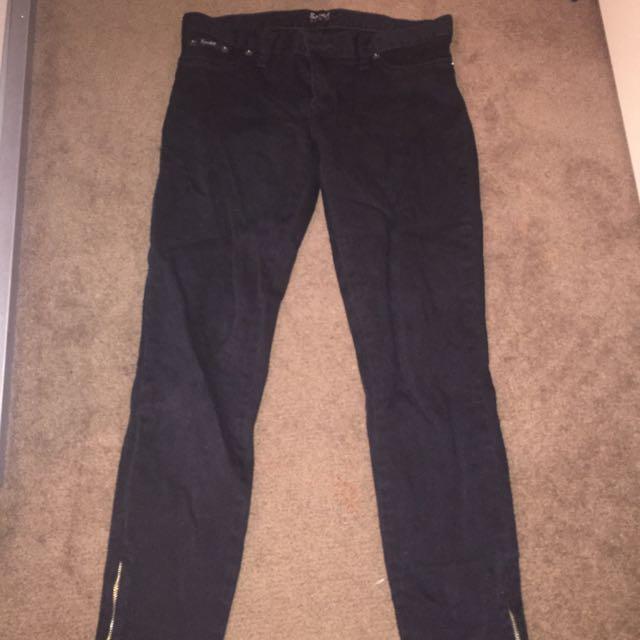 Bardot Black Ankle Grazer Jeans