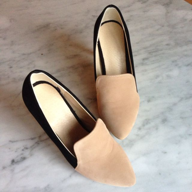 Black & Peach Heels