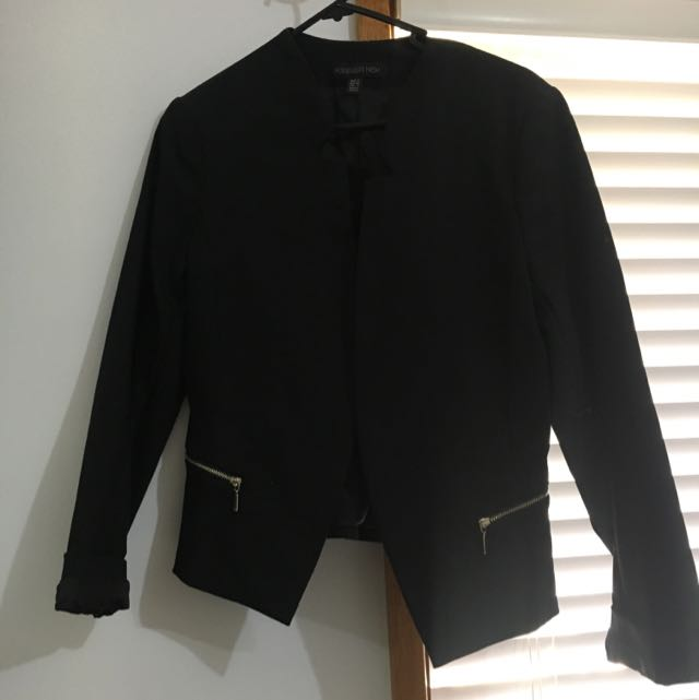 Black Blazer W Gold Detail