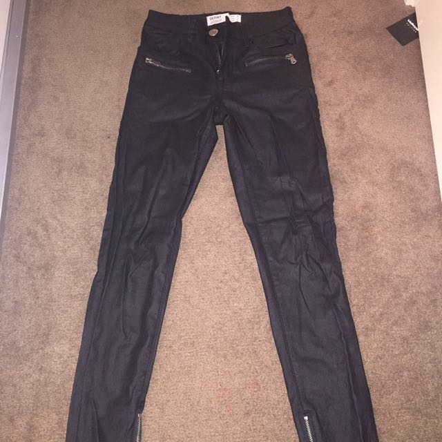 Black Coated Jeans