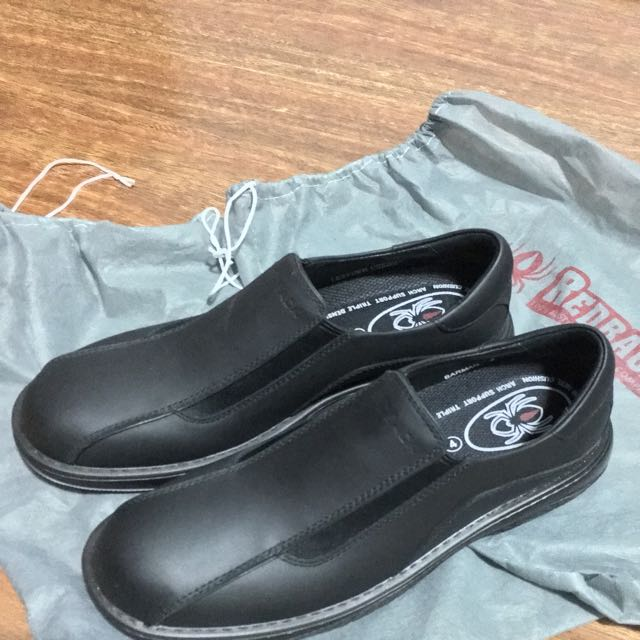 Black Leather Work Shoe