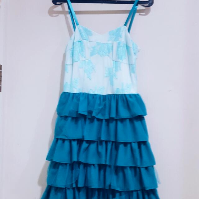 Blue Hunger Games Inspired Dress
