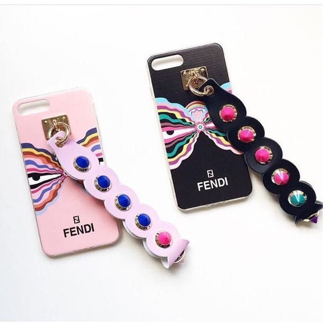 Butterfly Studed Fendi Strap (iPhone 6; BLACK ONLY!)