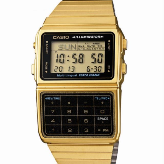Casio Vintage Databank Duo Gold