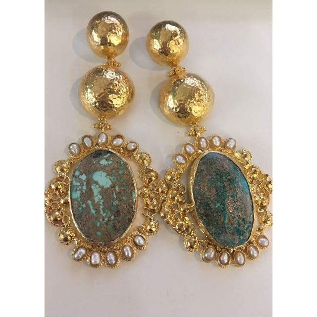 Christie Nicolaides Turquoise Paloma Earrings