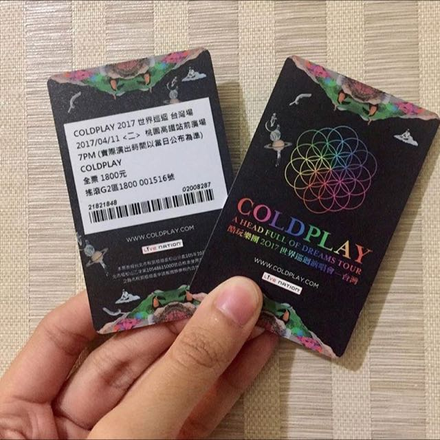 Coldplay ticket Di Taiwan