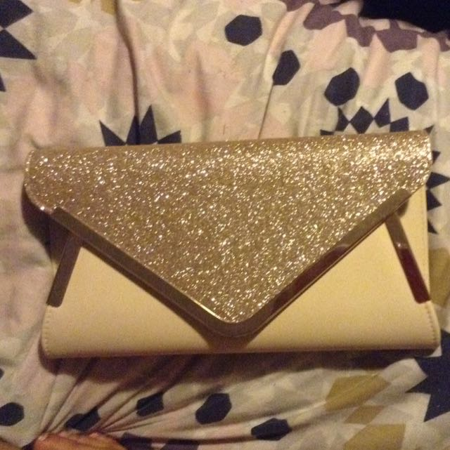 Colette Gold And Nude Clutch