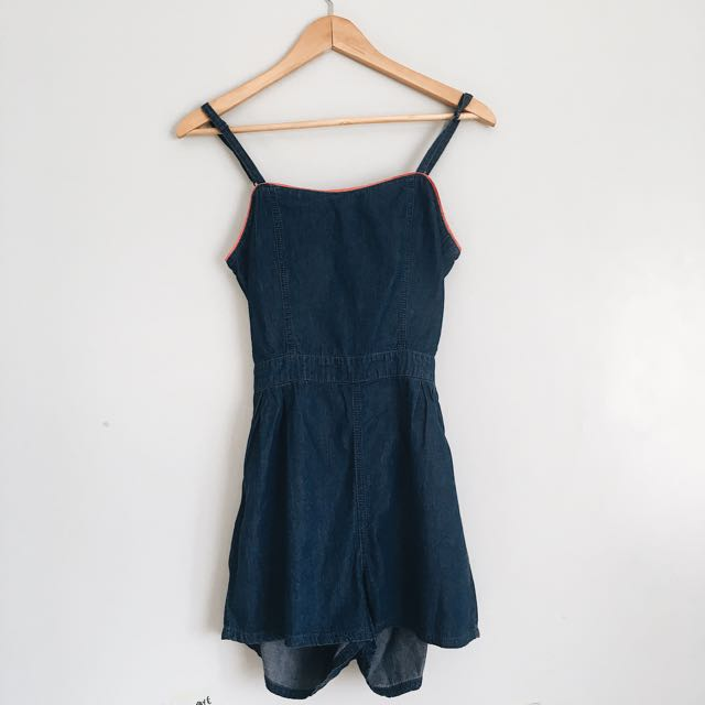 Navy Romper With A Twist
