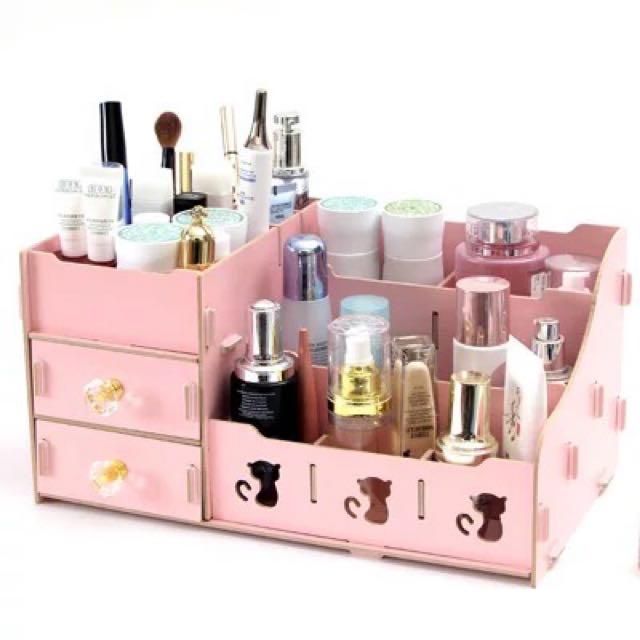 現貨⭐Diy木質感粉色收納櫃
