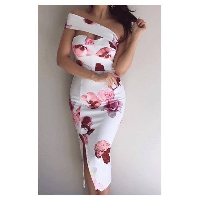 Dress - White floral