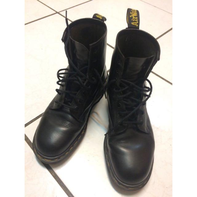 英國製造Dr.Martens 馬汀大夫經典基本款八孔靴_size8號(約Nike男版US 10號)