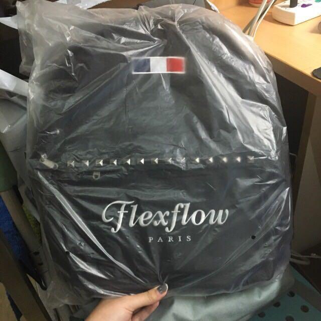 全新Flexflow鉚丁黑色後背包