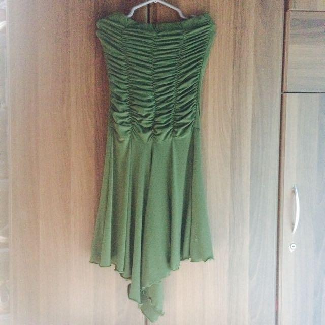 GREEN TUBE DRESS (REPRICED!!!)