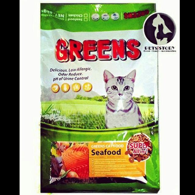 Greens 8kg Super Premium Makanan Kucing Cat Food Pet Supplies