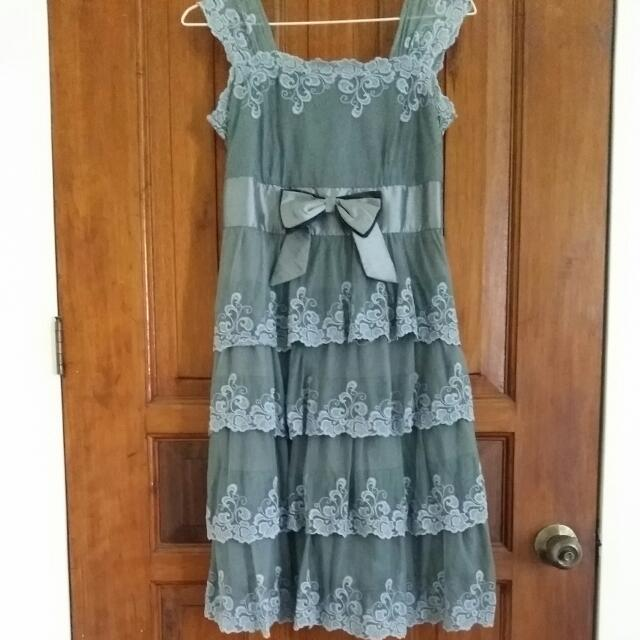 Grey Lace Dress
