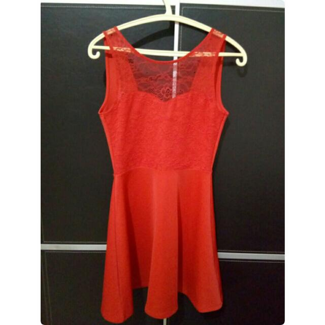 Repriced! H&M Red Dress Sexy Back
