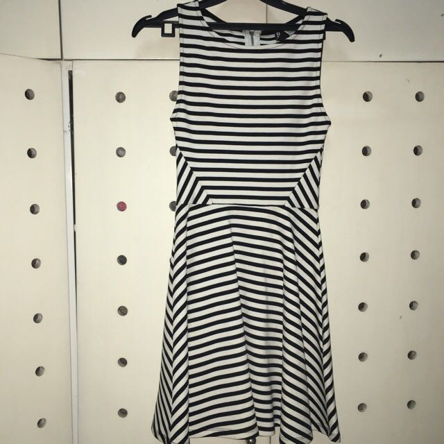 H&M Striped Dress Sleeveless
