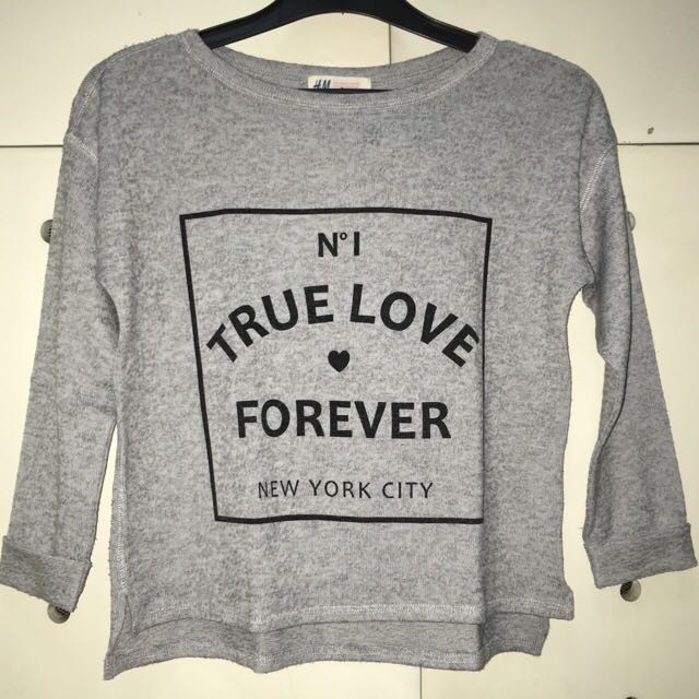 H&M True Love Sweater Cropped