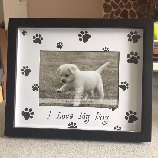 """""""I Love My Dog"""" Picture Frame"""