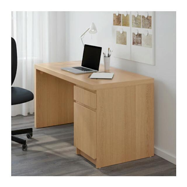 Ikea Malm desk - Birch Veneer
